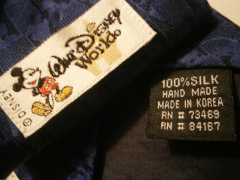 Интересный синий галстук с мики  маус шелк disney - Фото 5