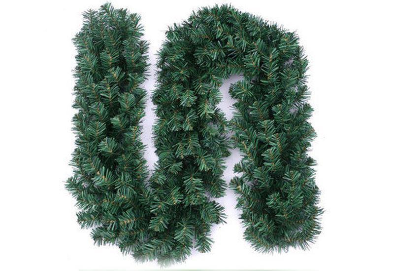 Рождественский ротанг искусственная гирлянда висячая ель елка сос