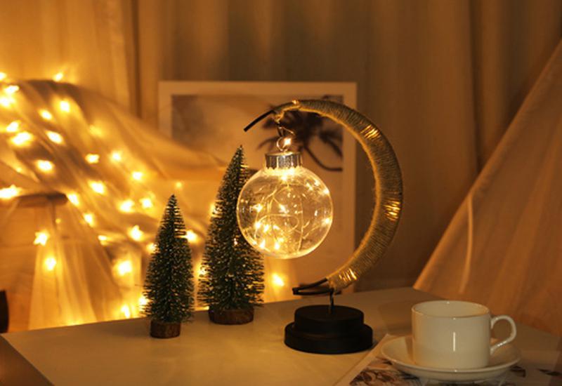 Новогодняя мини гирлянда для фото LED 1 метр для фон фото съемки - Фото 4