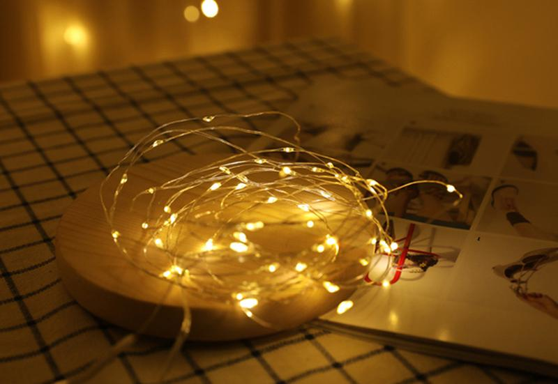 Новогодняя мини гирлянда для фото LED 1 метр для фон фото съемки