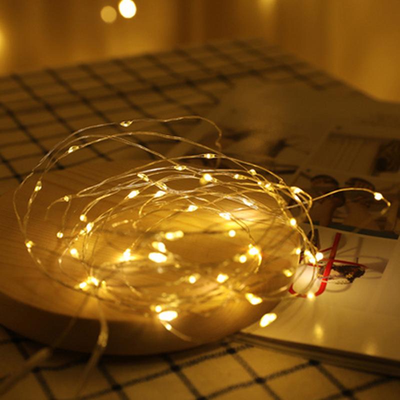 Новогодняя мини гирлянда для фото LED 1 метр для фон фото съемки - Фото 6