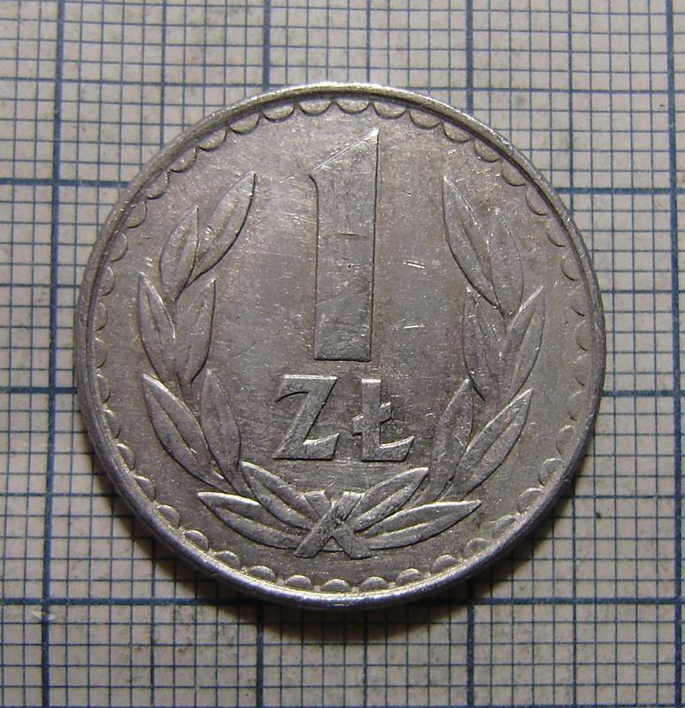 1 злотый 1982 Польша.