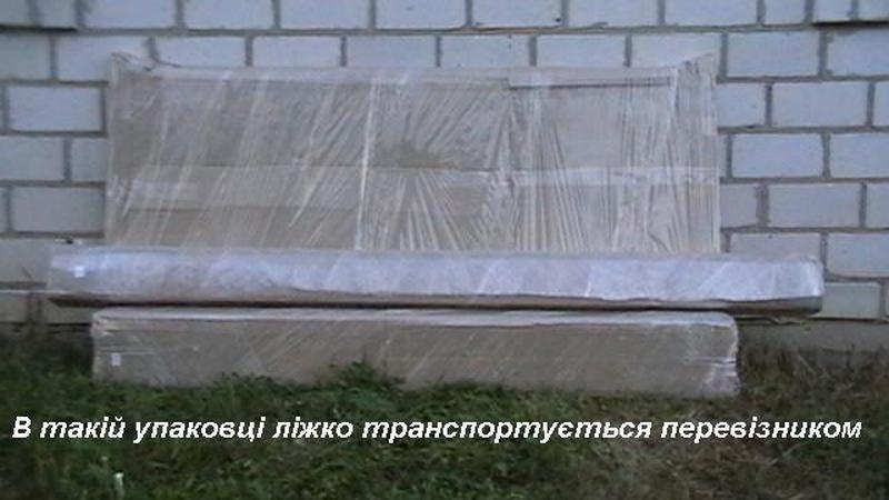 Ліжко дерев'яне, без викрутасів, одне бильце, 1.0 - Фото 5