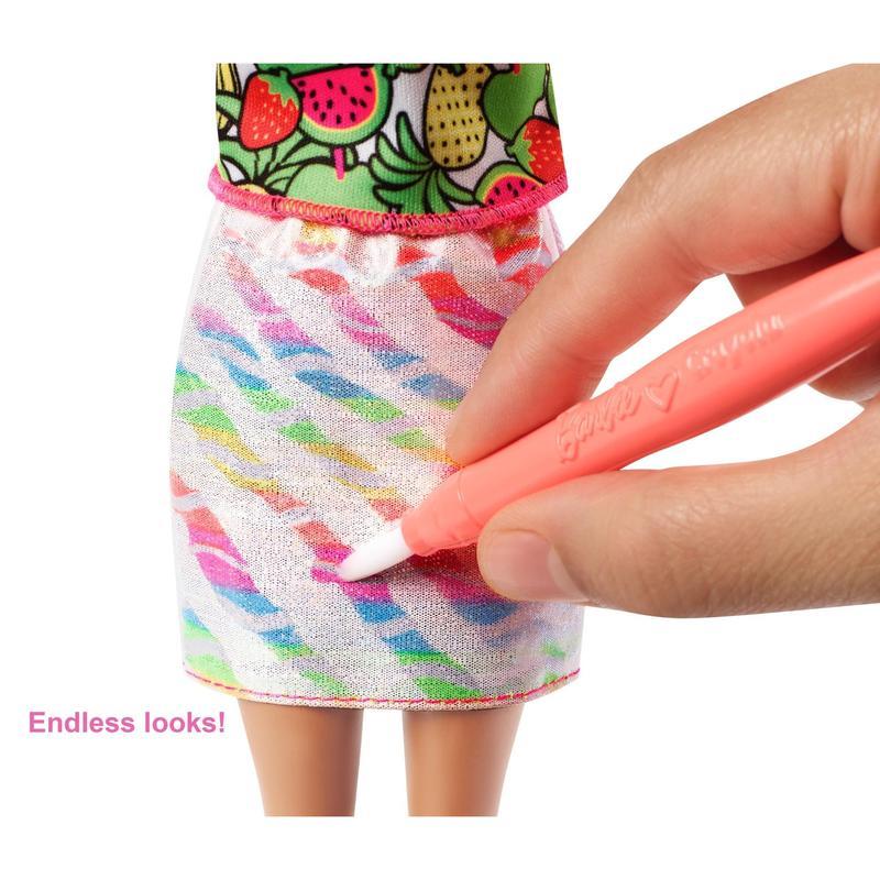 Кукла Barbie Crayola Фруктовый сюрприз Подробнее - Фото 5