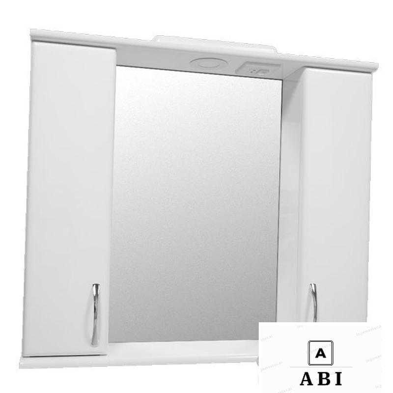 Зеркальный шкаф (шкаф-зеркало) с LED-подсветкой Эконом 80