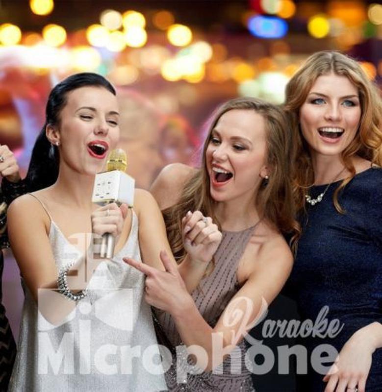 Bluetooth микрофон для караоке Q7 Блютуз микро + ЧЕХОЛ Черный - Фото 4