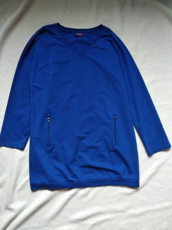 Платье свитшот туника удлиненная кофта blue motion