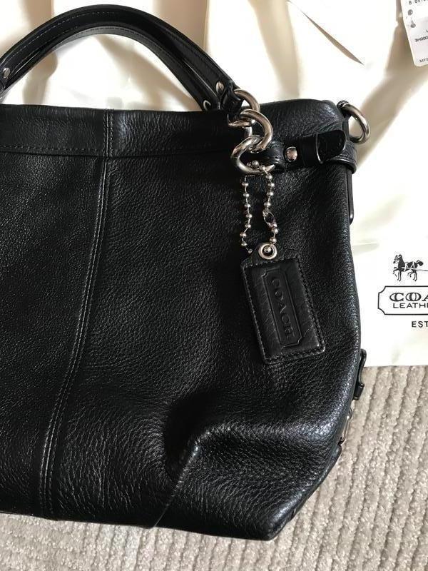 Брендовая номерная сумка *coach* натуральная кожа!! - Фото 3