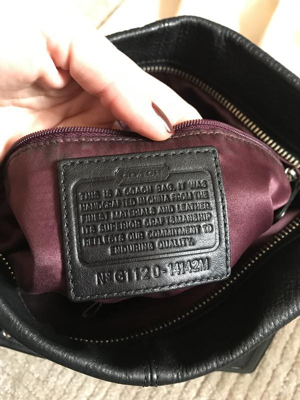 Брендовая номерная сумка *coach* натуральная кожа!! - Фото 6