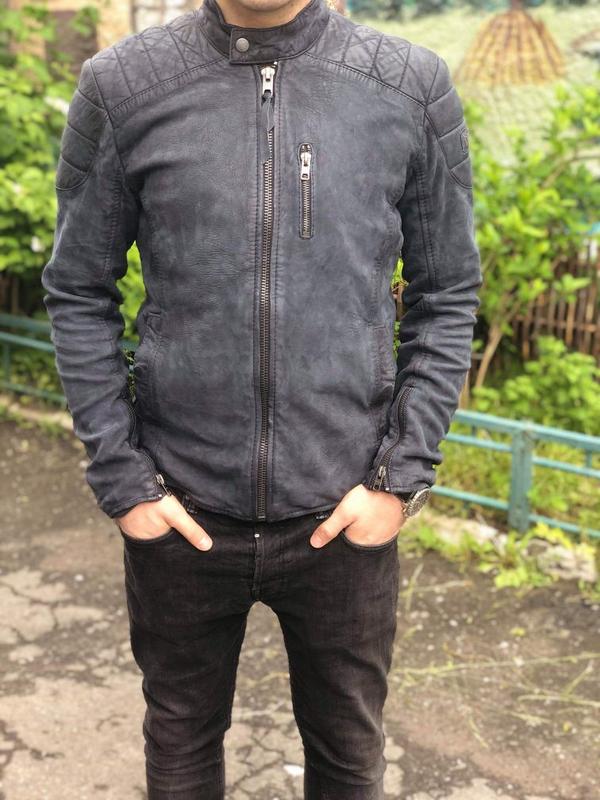 Кожаная куртка косуха Tigha Diesel G star Gucci - Фото 3