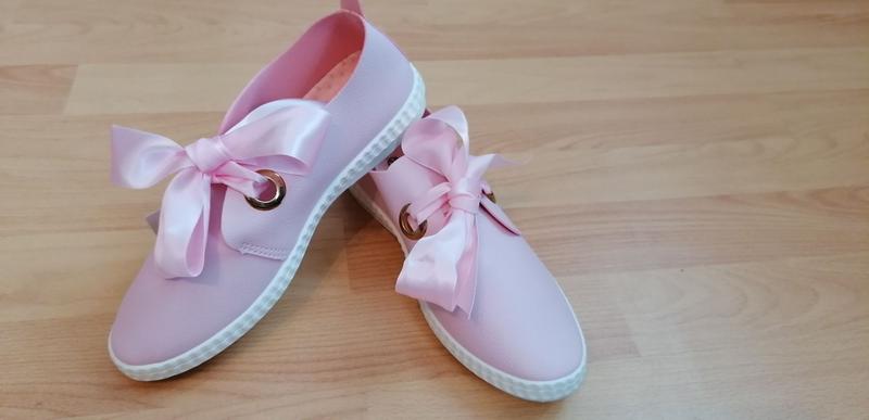 Слипоны женские нежно розовые - Фото 3