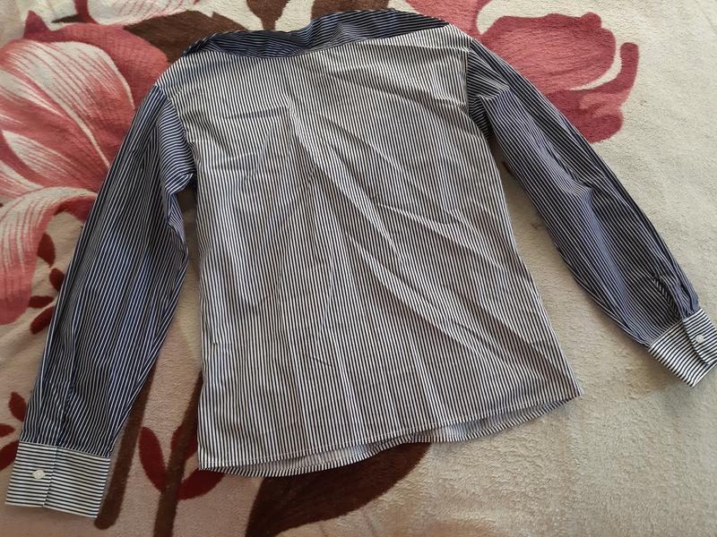 Новая рубашка в полоску h&m - Фото 6