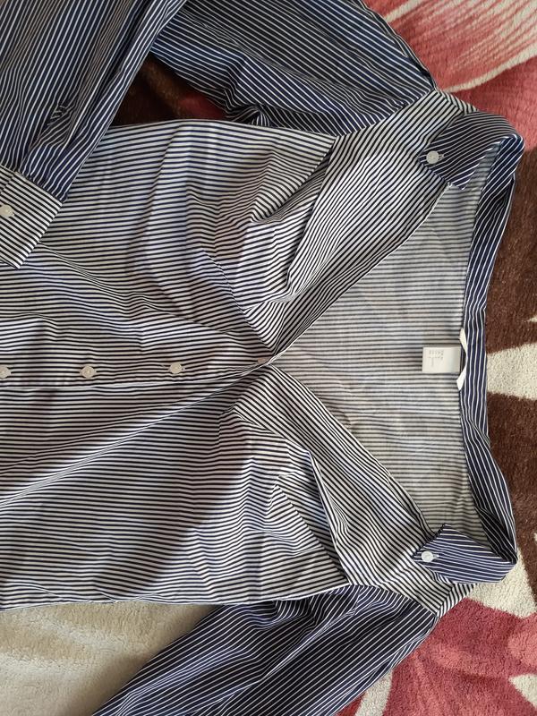 Новая рубашка в полоску h&m - Фото 7