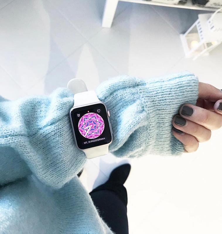 Ремінець для годинника для apple watch sport band силіконовий - Фото 4