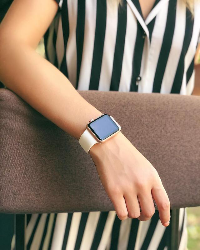Ремінець для годинника для apple watch sport band силіконовий - Фото 3