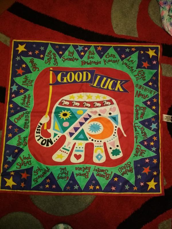 Яркий красочный платок - Фото 2