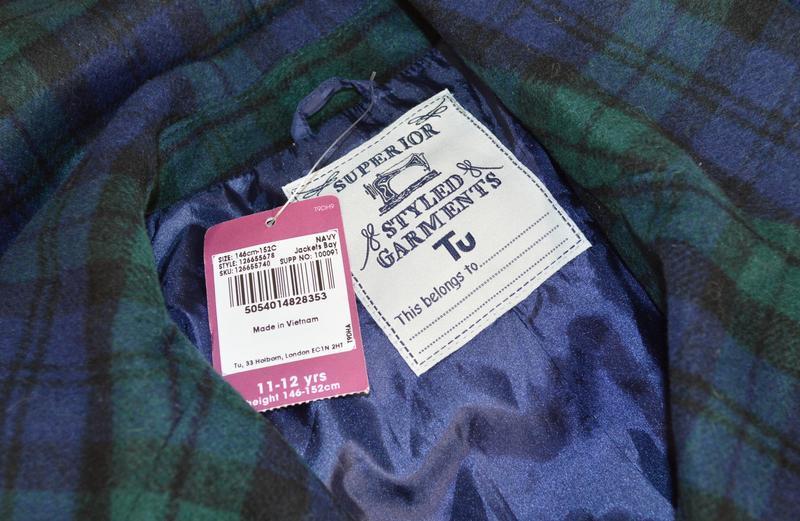 Брендовое демисезонное легкое пальто в клетку с карманами tu в... - Фото 4