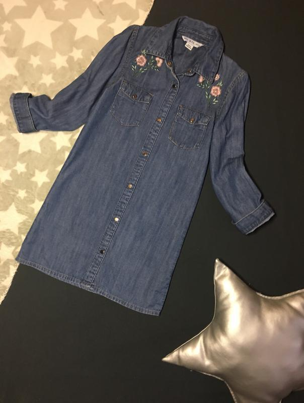 #розвантажуюсь стильное джинсовое платье-рубашка на весну 6-7 лет