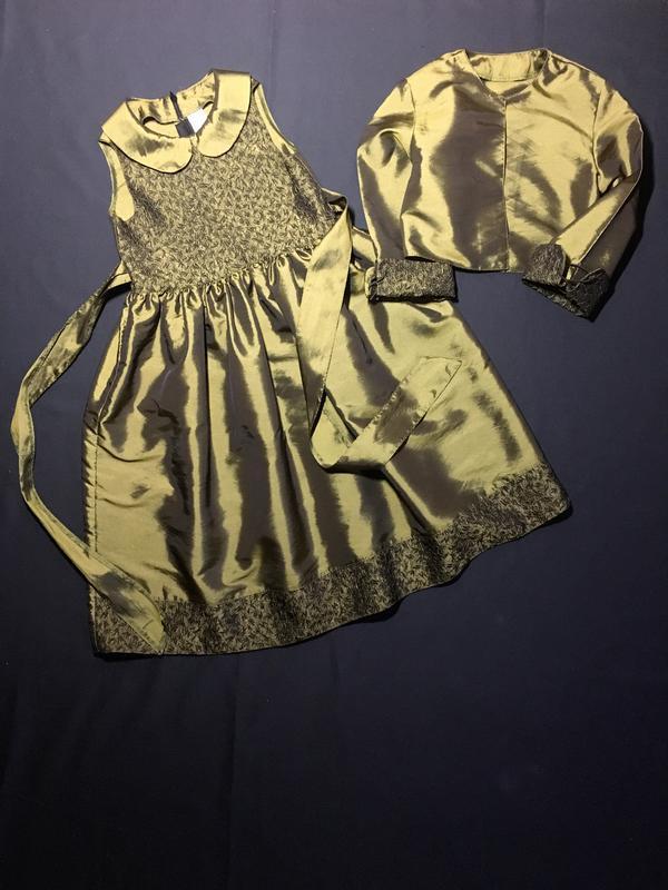 Нарядное платье с болеро на новый год (ёлочка) 8-10 лет