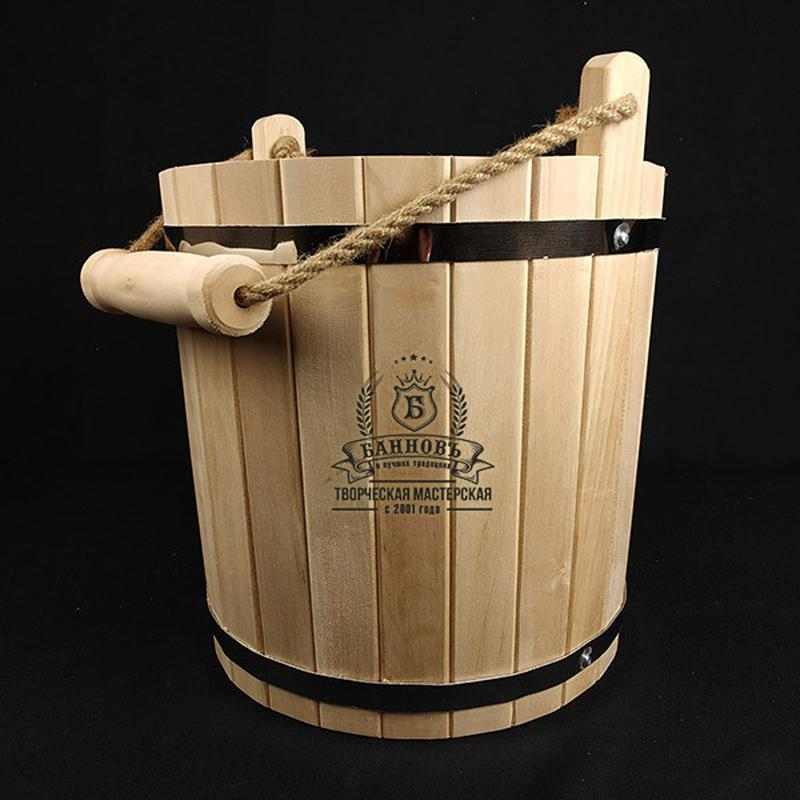 Липовое ведро для бани + веник в подарок - Фото 2