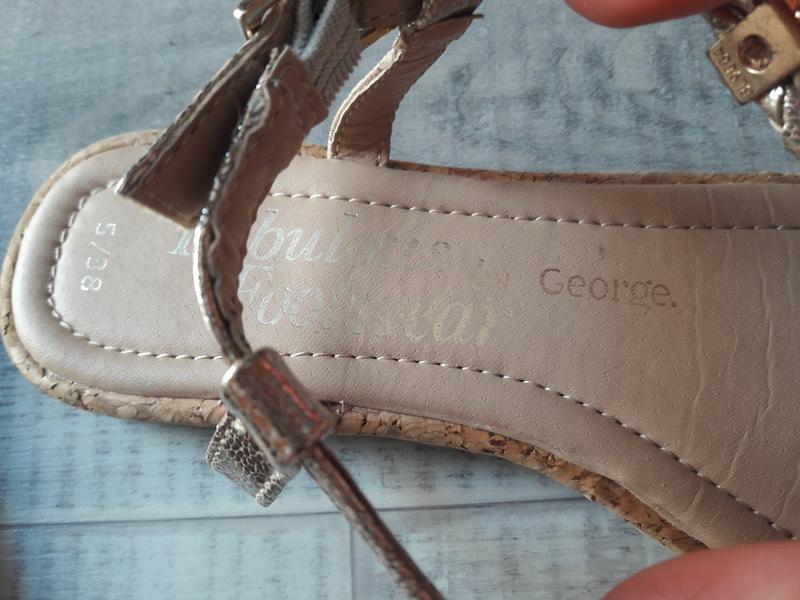 Босоножки на пальчик от george. - Фото 3