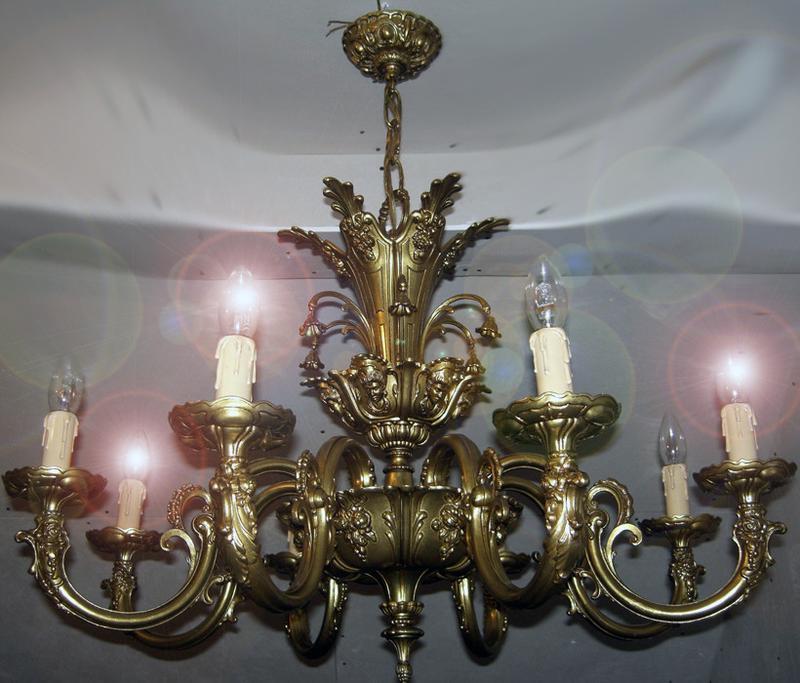 Шикарна оригінальна бронзова люстра (L-005) 8 ламп ексклюзив з Єв