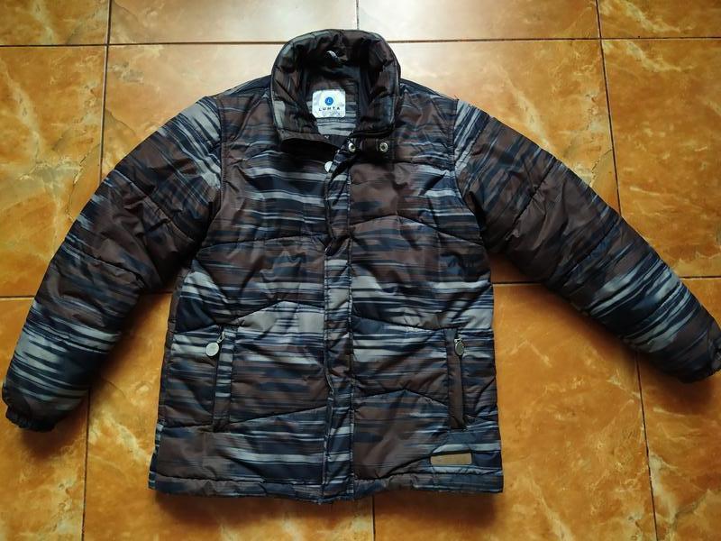 Теплая зимняя подростковая куртка курточка для мальчика. 152р.