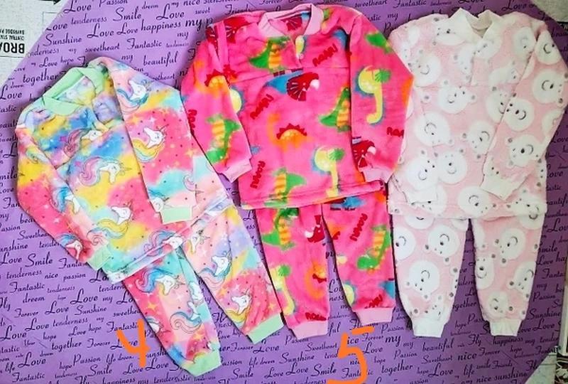 Теплая махровая пижама для девочки. 1-5лет.