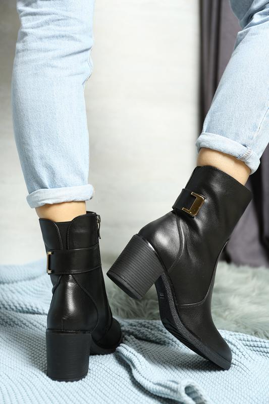 Демисезонные кожаные ботинки - Фото 3