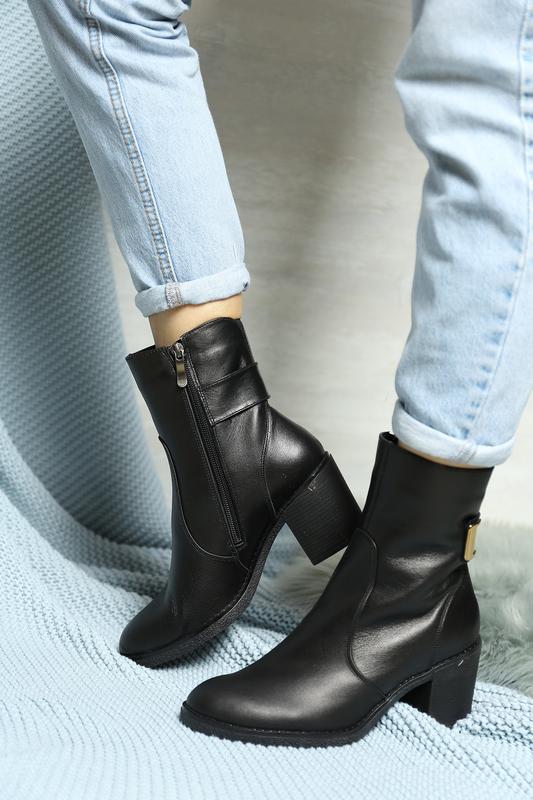 Демисезонные кожаные ботинки - Фото 4