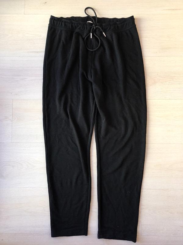 Чёрные повседневные штаны h&m спортивные брюки на шнуровке