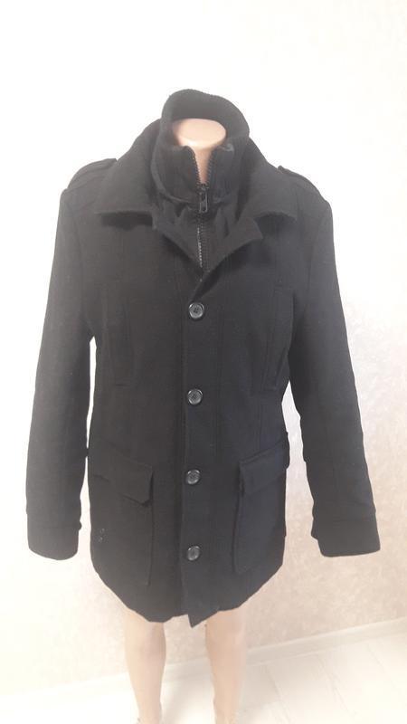 Пальто на подкладке, зимнее, шерстяное