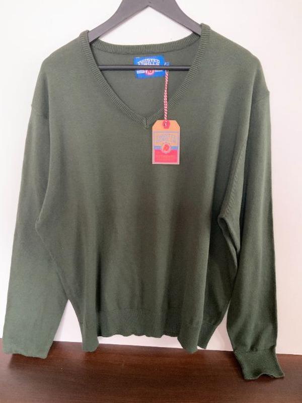 Новый мужской свитер Twisted Gorilla Размер XXL (52) темно зел...