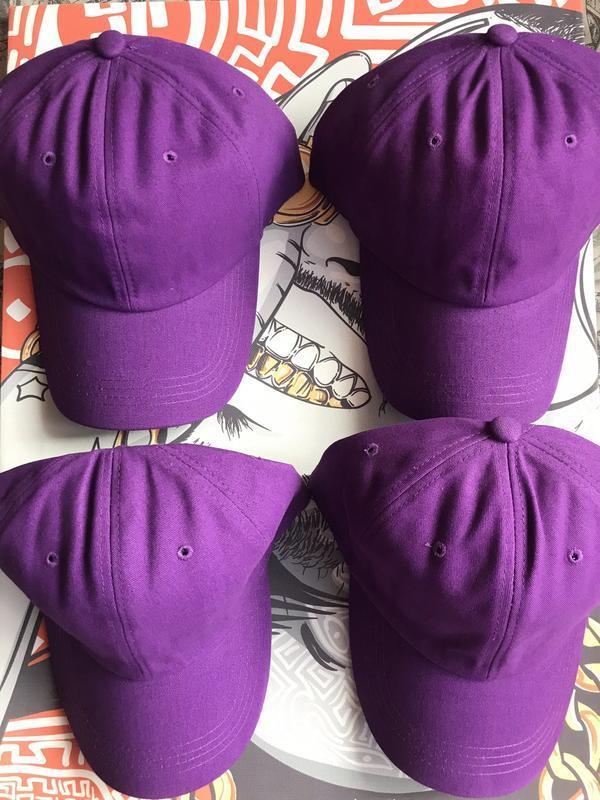 Кепка бейсболка фиолетовая яркая плотная распродажа - Фото 2
