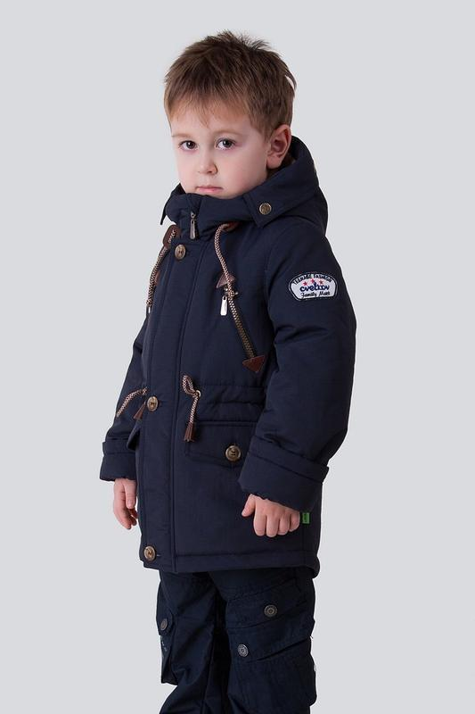 Куртка на мальчика, демисезонная, подростковая, синий, чарли.