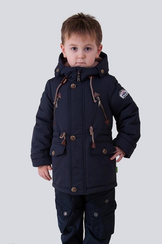 Куртка на мальчика, демисезонная, подростковая, синий, чарли. - Фото 2
