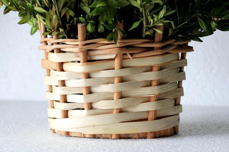 Плетеная декорапивная корзна, кашпо для цветов и подарков - Фото 3