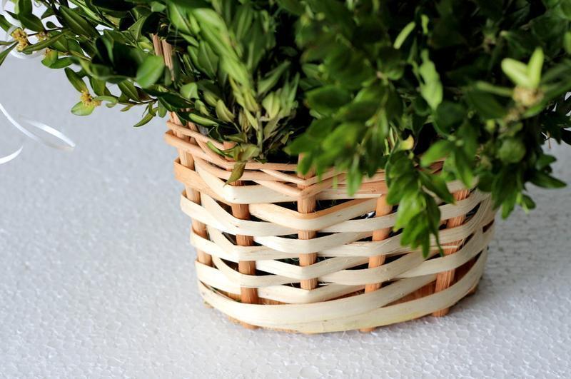 Плетеная декорапивная корзна, кашпо для цветов и подарков - Фото 4