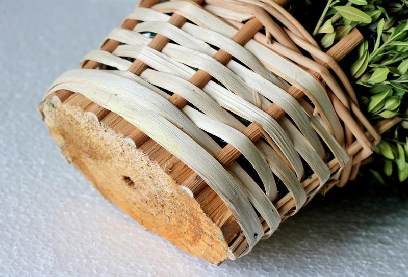 Плетеная декорапивная корзна, кашпо для цветов и подарков - Фото 5
