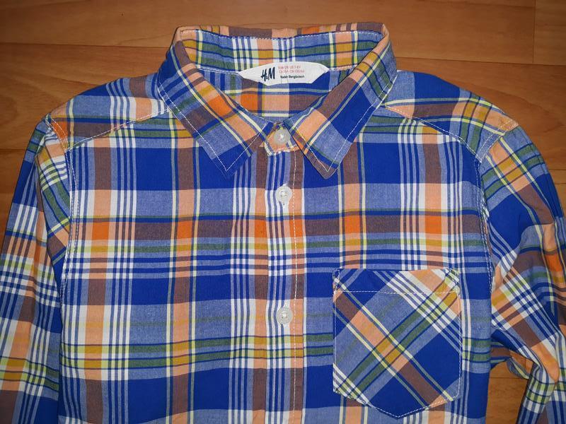 Яркая рубашка h&m на 7-8 лет - Фото 2