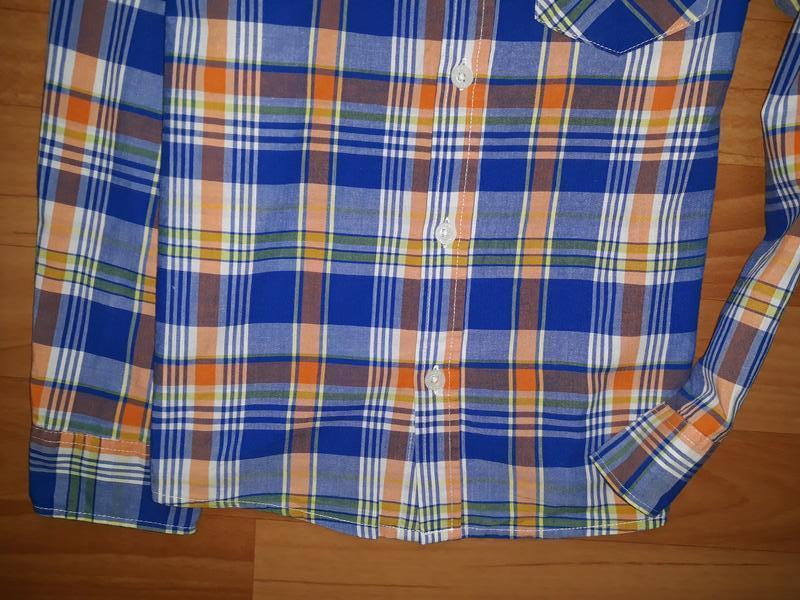Яркая рубашка h&m на 7-8 лет - Фото 3