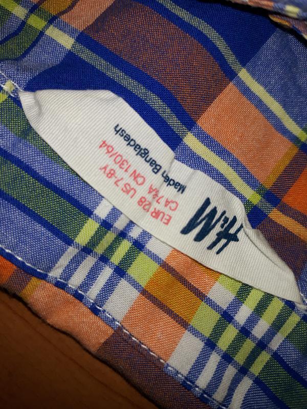 Яркая рубашка h&m на 7-8 лет - Фото 4