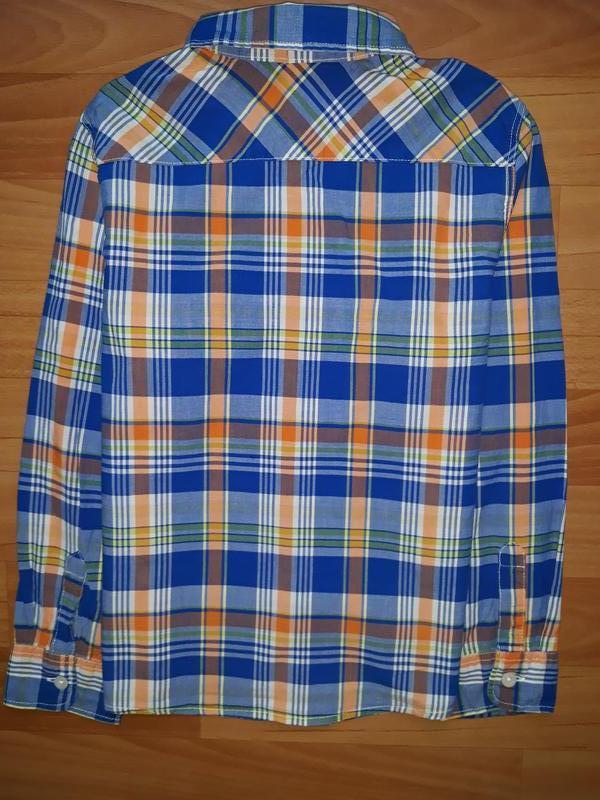 Яркая рубашка h&m на 7-8 лет - Фото 5