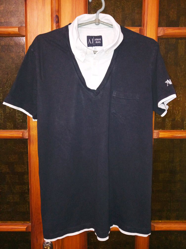 Рубашка-поло Armani Jeans, футболка поло, m-l