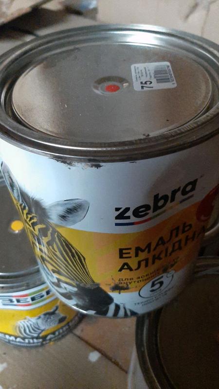 Зебра эмаль пф116