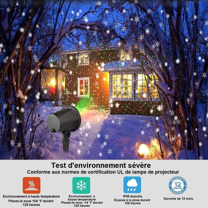 Різдвяний проектор Infinitoo на відкритому повітрі із пультом дис - Фото 6
