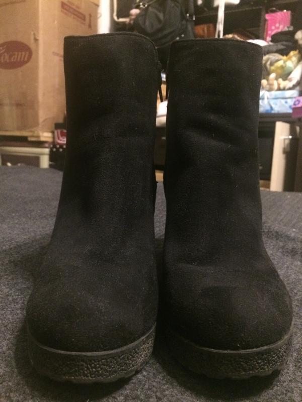 New look замшевые ботинки полусапожки - Фото 2