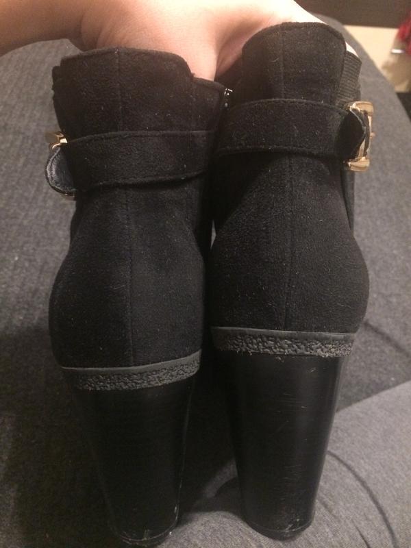 New look замшевые ботинки полусапожки - Фото 3