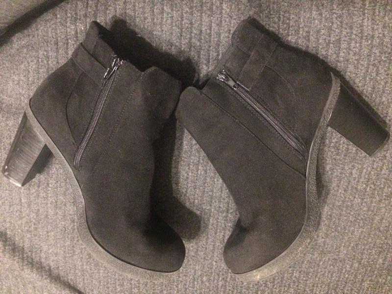 New look замшевые ботинки полусапожки - Фото 7