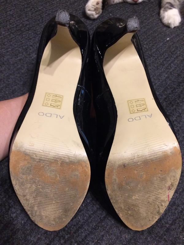 Aldo туфли босоножки лаковые - Фото 6